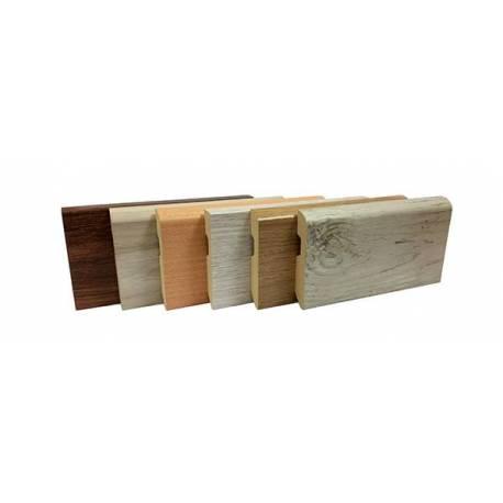 plinthes mdf plinthe av mdf prepeint x ml plinthe dco pour parquet et stratifi mdf effet alu. Black Bedroom Furniture Sets. Home Design Ideas